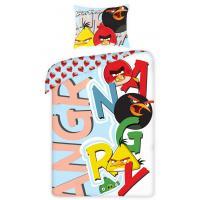 Obliečky Angry Birds písmená , Barva - Barevná , Rozměr textilu - 140x200