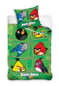 Obliečky Angry Birds Rio Bamboo , Barva - Zelená , Rozměr textilu - 140x200