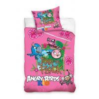 Obliečky Angry Birds Rio , Barva - Ružová , Rozměr textilu - 140x200