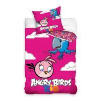 Obliečky Angry Birds Rio Stella a Perla , Barva - Ružová , Rozměr textilu - 140x200