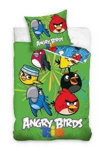 Obliečky Angry Birds Rio , Rozměr textilu - 140x200 , Barva - Zelená