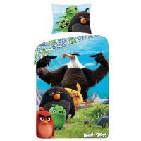 Obliečky Angry Birds vo filme Black 140x200 , Rozměr textilu - 140x200 , Barva - Modro-zelená
