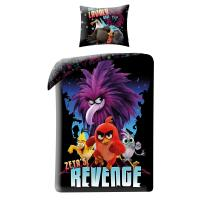 Obliečky Angry Birds vo filme red , Rozměr textilu - 140x200 , Barva - Čierna