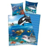 Povlečení Animal Club Oceán , Barva - Modrá , Rozměr textilu - 140x200