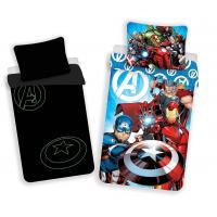 Obliečky Avengers svietiaci , Barva - Modrá , Rozměr textilu - 140x200