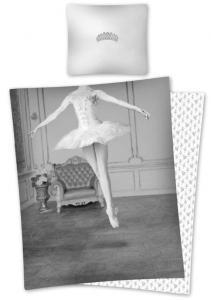 Obliečky Baletka , Rozměr textilu - 140x200 , Barva - Šedá