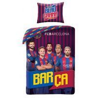 Obliečky Barcelona Hráči , Rozměr textilu - 140x200 , Barva - Červeno-modrá