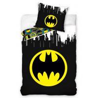 Povlečení Batman Gotham City , Rozměr textilu - 140x200 , Barva - Černo-žlutá