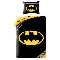 Obliečky Batman znak , Rozměr textilu - 140x200 , Barva - Čierna
