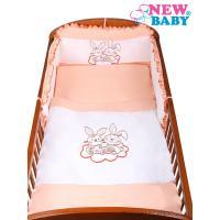 Obliečky Bunnies 3-dielne , Barva - Oranžová , Rozměr textilu - 90x120