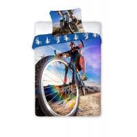 Povlečení Cyklista , Rozměr textilu - 140x200 , Barva - Modrá