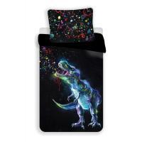 Obliečky Dinosaur Black , Barva - Čierna , Rozměr textilu - 140x200