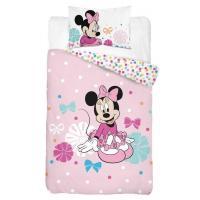 Povlečení do postýlky Minnie puntíky , Barva - Ružová , Rozměr textilu - 100x135