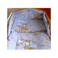 Obliečky do postieľky S medvedíkom , Rozměr textilu - 100x135 , Barva - Modrá
