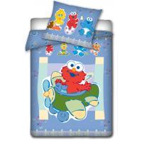 Obliečky do postieľky Sesame Street , Rozměr textilu - 100x135 , Barva - Modrá