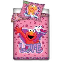 Obliečky do postieľky Sesame Street , Rozměr textilu - 100x135 , Barva - Ružová