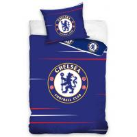 Obliečky FC Chelsea Red Lines , Barva - Modrá , Rozměr textilu - 140x200