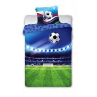 Povlečení Fotbal , Barva - Modrá , Rozměr textilu - 140x200