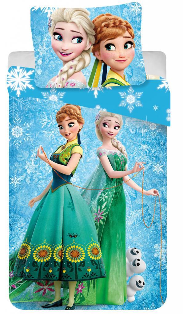 79260a66a Detské obliečky Frozen snehové vločky , Barva - Modrá | Nákupy Deťom SK