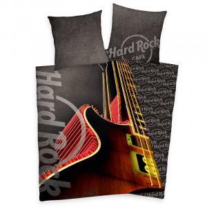 Povlečení Hard Rock Cafe Kytara , Barva - Antracitová , Rozměr textilu - 140x200