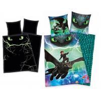 Obliečky Ako vycvičiť draka svietiace v tme , Barva - Zelená , Rozměr textilu - 140x200