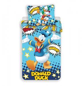 Obliečky Káčer Donald , Barva - Modrá , Rozměr textilu - 140x200