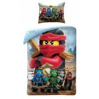 Obliečky Lego Ninjago group , Rozměr textilu - 140x200 , Barva - Modrá