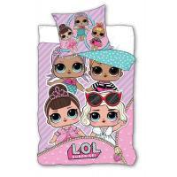 Povlečení LOL Pink , Rozměr textilu - 140x200 , Barva - Svetlo ružová