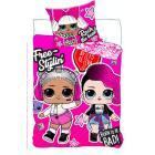 Povlečení LOL Surprise Pink , Barva - Tmavo ružová , Rozměr textilu - 140x200