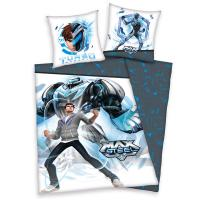 Obliečky Max Steel , Rozměr textilu - 140x200 , Barva - Modro-šedá