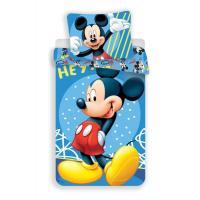 Obliečky Mickey 043 hey , Rozměr textilu - 140x200 , Barva - Modrá