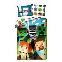 Povlečení Minecraft Alex a Steve , Barva - Barevná , Rozměr textilu - 140x200
