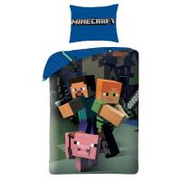 OBLIEČKY Minecraft , Rozměr textilu - 140x200 , Barva - Modrá