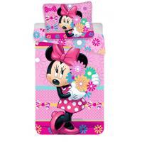 Obliečky Minnie Bows and flowers , Barva - Ružová , Rozměr textilu - 140x200