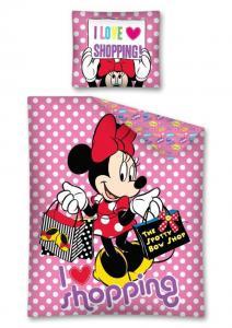 Obliečky Minnie bodky , Rozměr textilu - 140x200 , Barva - Ružová