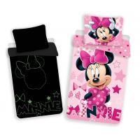 Obliečky Minnie svietiaci , Barva - Ružová , Rozměr textilu - 140x200