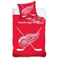 Obliečky NHL Detroit Red Wings - svietiace , Barva - Červená , Rozměr textilu - 140x200