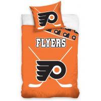 Obliečky NHL Philadelphia Flyers - svietiace , Barva - Oranžová , Rozměr textilu - 140x200