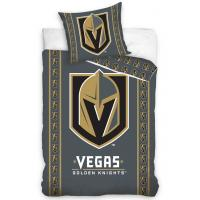 Povlečení NHL Vegas Golden Knights Stripes , Rozměr textilu - 140x200 , Barva - Šedá