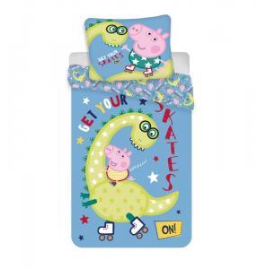 Povlečení Peppa Pig Dino , Barva - Modrá , Rozměr textilu - 140x200