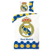 Obliečky Real Madrid , Rozměr textilu - 140x200 , Barva - Bielo-modrá