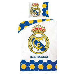 Obliečky Real Madrid , Barva - Bielo-modrá , Rozměr textilu - 140x200
