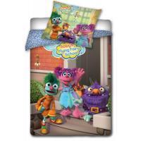Obliečky Sesame Street , Barva - Barevná , Rozměr textilu - 140x200