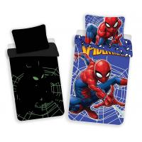Obliečky Spiderman svietiaci , Barva - Modrá , Rozměr textilu - 140x200