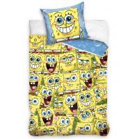 Povlečení Sponge Bob Kam se podíváš , Rozměr textilu - 140x200 , Barva - Žluto-modrá