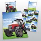 Obliečky Traktor , Barva - Modro-zelená , Rozměr textilu - 140x200