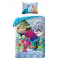 Obliečky Trollovia , Rozměr textilu - 140x200 , Barva - Světlo modrá