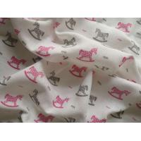 Látková plena s potiskem Koník , Barva - Ružová , Rozměr textilu - 70x70