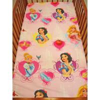 Prestieradlo Disney Princezné , Barva - Ružová , Rozměr textilu - 100x150