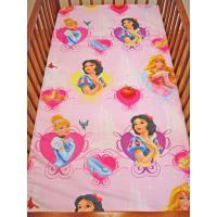 Plachta do postieľky Disney Princezné , Rozměr textilu - 60x120 , Barva - Ružová